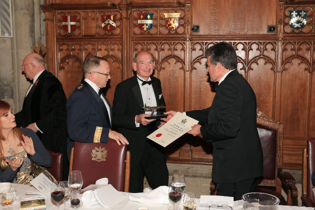 Devon and Somerset Gliding Club member Nigel Everett receives his award